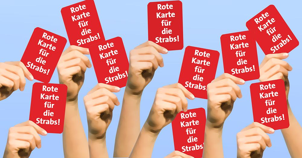 Rote Karte für STRABS – Termine in Ansbach